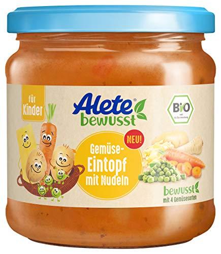 Alete bewusst Bio mit Nudeln ab 3 Jahren, Gemüseeintopf, 350 gramm