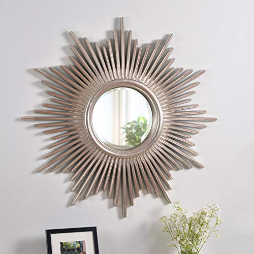 Kenroy Home Wall Mirror, 36 Inch Height, 36 Inch Diameter, 1.5 Inch Ext, Silver