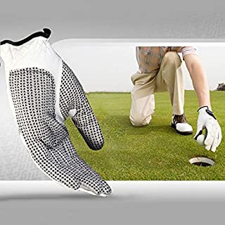 Golfuitrusting links schapenleer antislip deeltjes golf heren handschoenen, maat: 26#