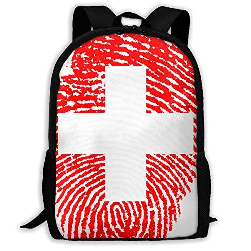 HOJJP ñ mochila escolar von ruedas Travel Backpack Laptop Backpack Large Diaper Bag - Switzerland Backpack School Backpack for Women & Men