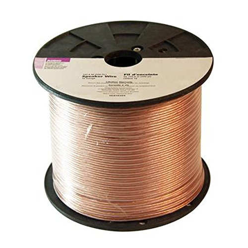 50' FT 16 AWG GA Speaker Cable 2 Conductor Ocygen Free Pure Copper Spool Polarized 2 Wire Conductor Digital Audio Signal Super Flex Copper In-Wall Cable Home Theater Sound, UL Listed