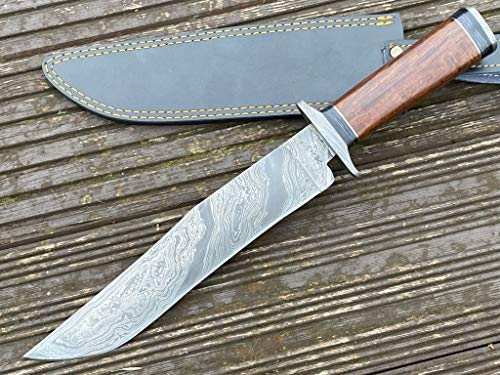 Perkin Damastmesser Jagdmesser mit Scheide - BEK99
