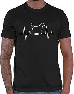 HARIZ - Camiseta para Hombre, diseño de corazón con Texto en alemán