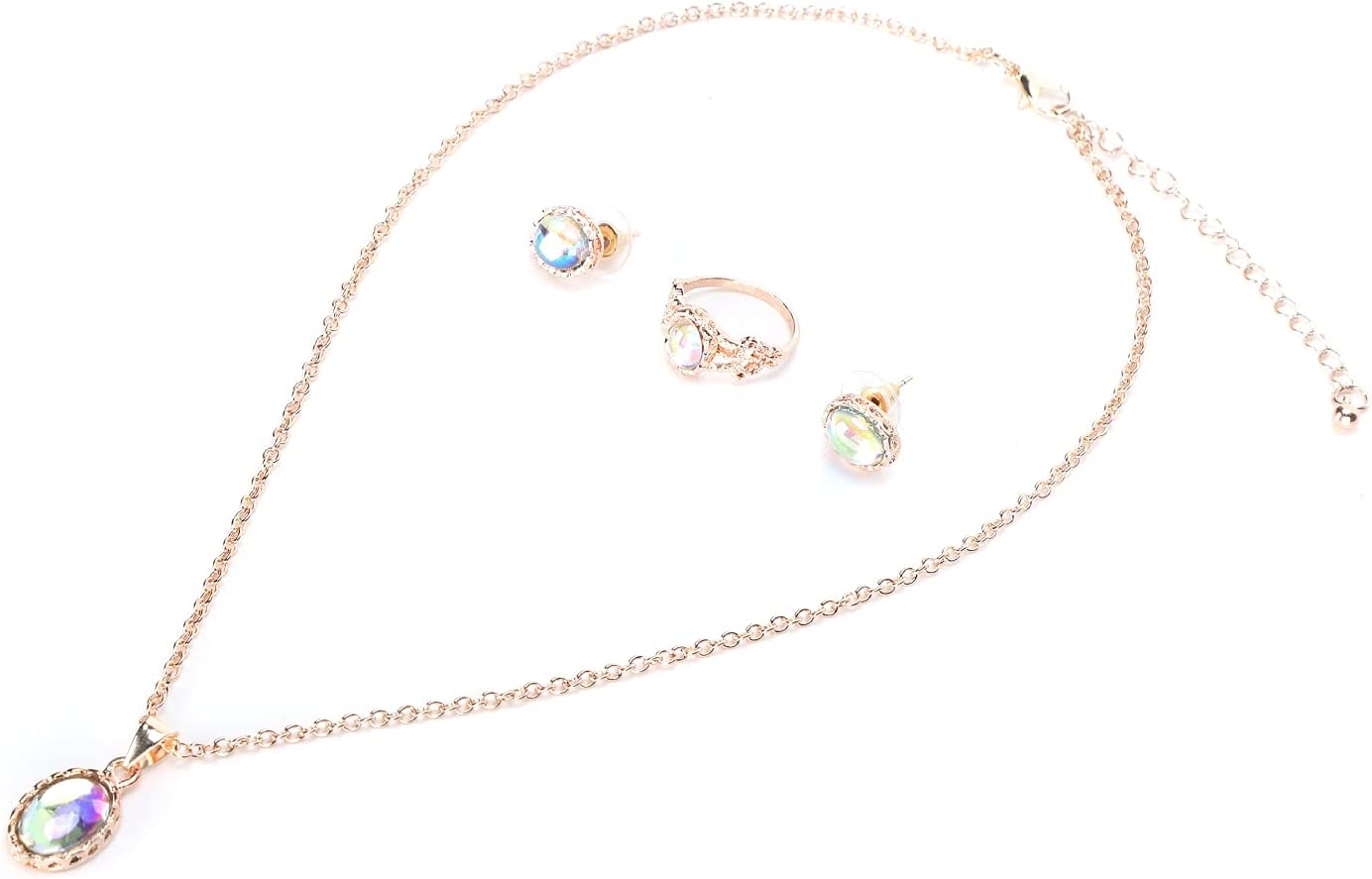 Velaurs Necklace Ring Earrings Set Not Oxidize Special price to Easy Effe Can Max 47% OFF