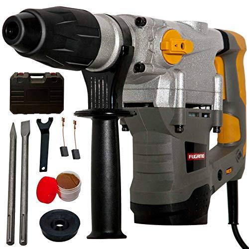 SDS Max Bohrhammer 1500 Watt; pneumatisches Schlagwerk 10J; SDS Max Aufnahme; Metallgetriebe; Koffer + Meißel