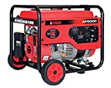A-iPower AP5000V 5000-Watt Gas Powered Portalable Generator | AP5000, 5000 Watt, Oranage
