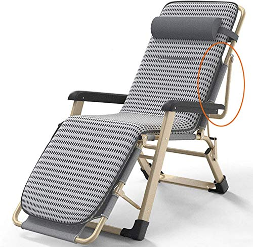 XLYYHZ Oversized Mesh Back Zero Gravity Recliner Chairs, XL 4D Padded Seat Folding Patio Lounge Chair,Reclining Pool Chair Chaise,550lbs