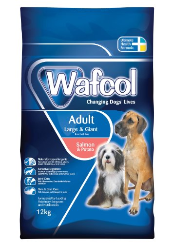Wafcol Adult Sensitive Dog Food - Salmon & Potato - Grain Free Dog Food for Large and Giant Breeds - 12 kg Pack