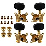 BQLZR Gold-Plated 2R2L Tuning Peg Machine Head Tuners For Ukulele 4 String Guitar...