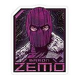 (3 Pcs/Pack) Baron Zemo 3x4 Inch Vinyl Stickers Decals for Wall Laptop Bike Car Bumper Helmet Water Bottle