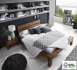 SAM Balkenbett 140x200 cm Alias aus Akazien-Holz