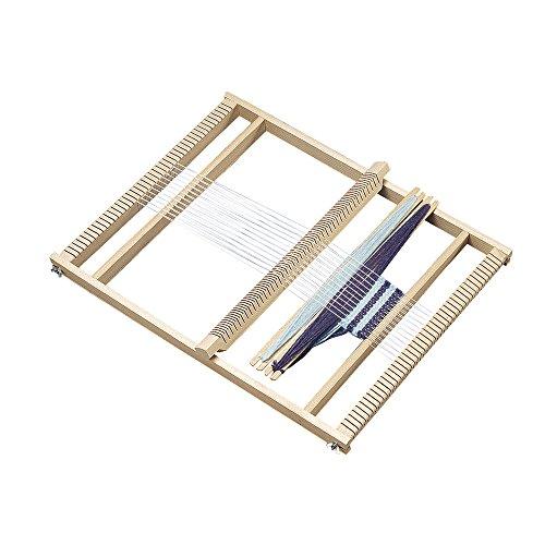Rayher 7202300 Schul-Webrahmen, Allgäuer Webrahmen, Holz, 53,5 x 42 cm, Webbreite 40 cm, im Karton, mit 2 Webschiffchen und 1 Webkamm