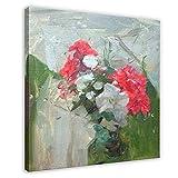 Póster artístico de Frank Bramley con diseño de flores para decoración de pared de 70 x 70 cm, estilo de marco 1