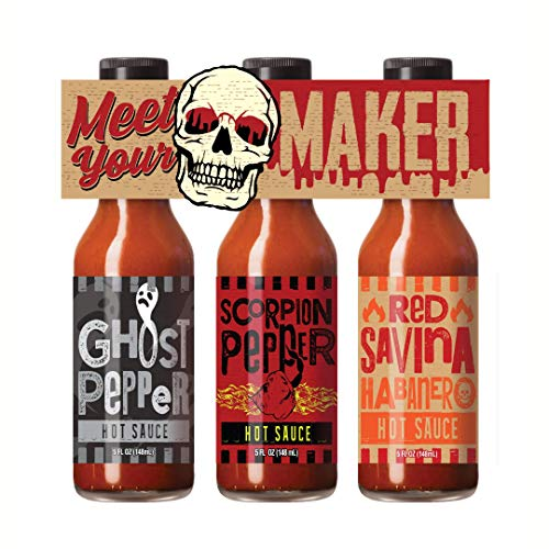 House-Autry Meet Your Maker Spicy Hot Sauce Gift Set, 3 Pack