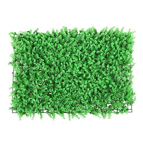 KTYXGKL Decoración De Césped De Pared Verde Artificial, Paneles De Cobertura De Privacidad De Plantas Verdes De Simulación, 60 X 40 Cm / 23,62'X 15,75', Baldosas De Cobertura Artificial