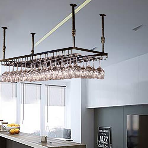 JHGJBJ Weinglashalter, Weinglas Anhänger Kreative Can Hang 24 Cups, Hang Regal Regal Eisen Dekoration Dachträger-Halter