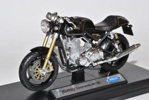Welly Norton Commando 961 SE Schwarz 1/18 Modell Motorrad