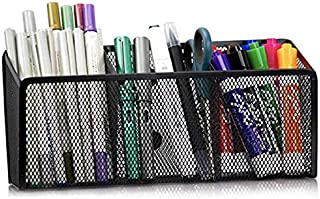 MINIMA Magnetic Pencil Holder - 3 Generous Compartments Magnetic Storage Basket Organizer - Extra Strong Magnets - Perfect...