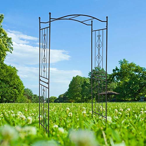 GOTOTOP Pérgola de jardín de arco para plantas trepadoras para la ceremonia nupcial del Partido del Patio Inglés del Patio Decora 230 x 110 x 44 cm
