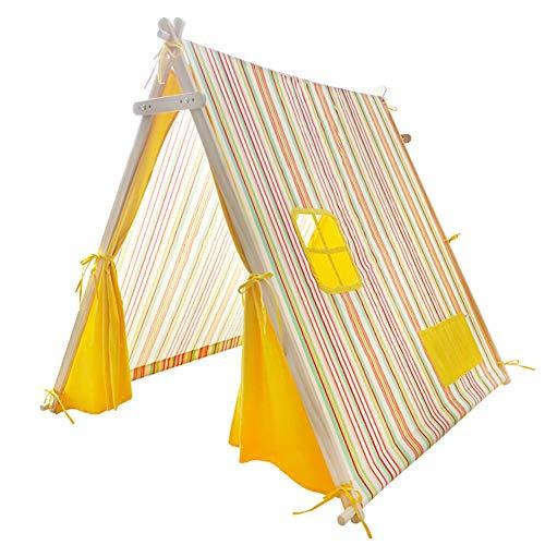 LJW Nordic Wind Kids Tent Game Huis Katoen Doek Houten Beugel Binnen Speelgoed Huis Prinses Tent 140X120x125cm