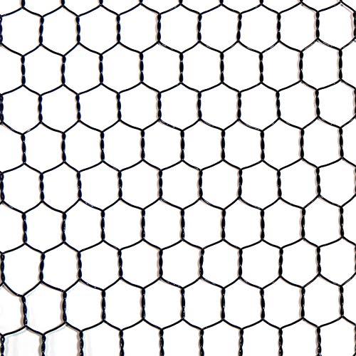 ダイドーハント (DAIDOHANT) (金網) ビニール 亀甲金網 ブラック (線径d)#20(0.85mm) x (目合a)16mm/(幅W)450mm x (長さL)1M 1巻入 10160145