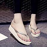 Ririhong Chanclas, Zapatillas de Moda de Verano para Mujer, Sandalias de tacón Alto, Zapatos de Playa de Suela Gruesa para...