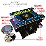 "Creative Arcades Full-Size Commercial Grade Cocktail Arcade Machine | Trackball | 412 Classic Games | 2 Sanwa Joysticks | 2 Stools Included | 22"" Screen 