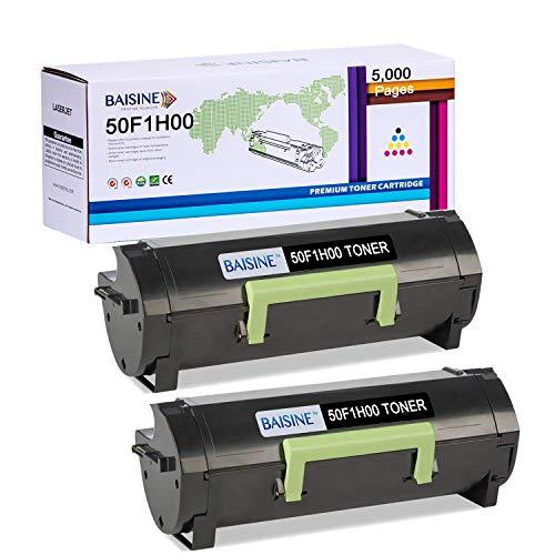 BAISINE Toner Cartridge Compatible Replacement for Lexmark 50F1H00 501H MS312dn MS610dn MS310 MS510dn MS415dn MS310dn MS310d MS315dn MS410d MS410dn MS610de - High Yield 5,000 Pages (Black, 2Pack)