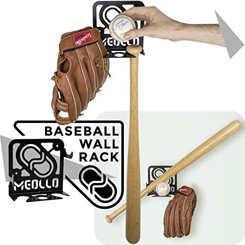 MEOLLO Baseballschläger wandhalterung (100% Stahl) (schwarz)