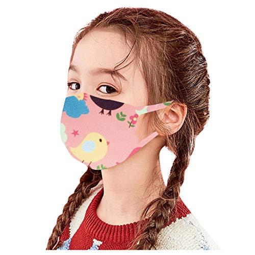 Kinder Ice Silk Mundschutz Ice Silk Bandana, Kinder Gesicht Atmungsaktive Baumwolltuch Bandana Waschbare Mund und Nasenschutz Bandana Halstuch Jungen Mädchen (1 PC,D3)