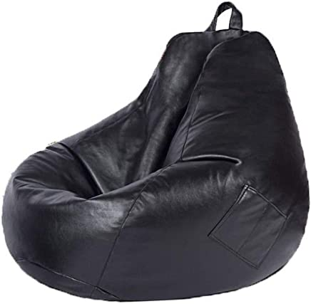 AEURX Cozy Bean Bag Chairs For Teenagers Lazy Sofa Lounger Lazy Couch Lounger Heat-resistant Anti-fouling Outdoor Lounge Suitable For Leisure  Color Black
