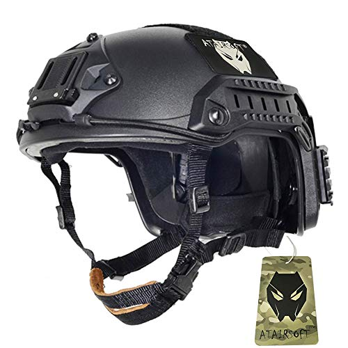 ATAIRSOFT Adjustable Maritime Helmet ABS for Airsoft Paintball(Blak,L/XL)