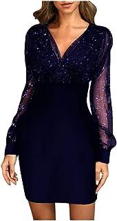 Lässige Kleidung,Abendkleid,Frauenkleid,Kleid Dress,Women Long Sleeved top Dress,Women Dress,Wonen Pailletten Sexy New 2021 Sommer Weiblich Schwarz Retro Elegant Party Culb Kleid
