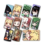 Apehuyuan My Hero Academia Gift Set - 10 Pcs Crystal Cards Stickers, Anime Cartoon Laptop Stickers(H01)