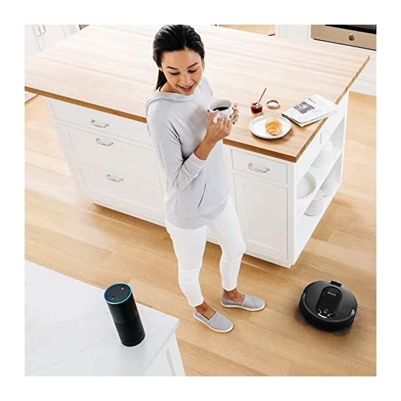 Shark IQ RV1001, Wi-Fi Connected, Home Mapping Robot Vacuum, Without Auto-Empty dock, Black 8 Unbeatable suction vs. any Shark robot vacuum for pickup of large and small debris, as well as pet hair on carpets and hard-floors. Self-cleaning brushroll removes pet hair and long hair from the brushroll as it cleans--no more hair wrap. Schedule whole-home cleanings or target specific rooms or areas to clean right now with the Shark Clean app or voice control with Amazon Alexa or Google Assistant.