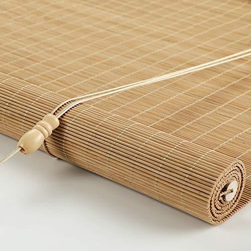 CHAXIA Bambú Persiana Ventana Enrollable, Retro Cortina Colgante Sala De Te Dividir Persianas Cordón Aumento Soltar Sombreando El Sol 2 Colores Varios Tamaños (Color : A, Size : 120x160cm)