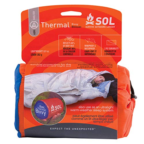 S.O.L Survive Outdoors Longer S.O.L. 80% Reflective Thermal Emergency Bivvy