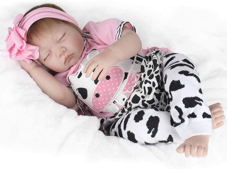 en venta en línea CHENG Baby Reborn Dolls Girls Sleeping 21 Pulgadas Suave Vinilo Vinilo Vinilo de Silicona recién Nacido Baby Doll Set de Regalo  ventas al por mayor