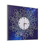 COZOCO Pintura Diamante Estética abstracta en forma de relojes de punto de cruz digital decoración del hogar compromiso cuadrado diamante bordado pintura (E-Multicolor)
