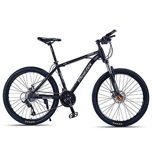NENGGE volwassen mountainbikes, 26 Inch koolstofstaal frame Hardtail mountainbike, voorwielophanging Heren fiets, Alle terrein mountainbike