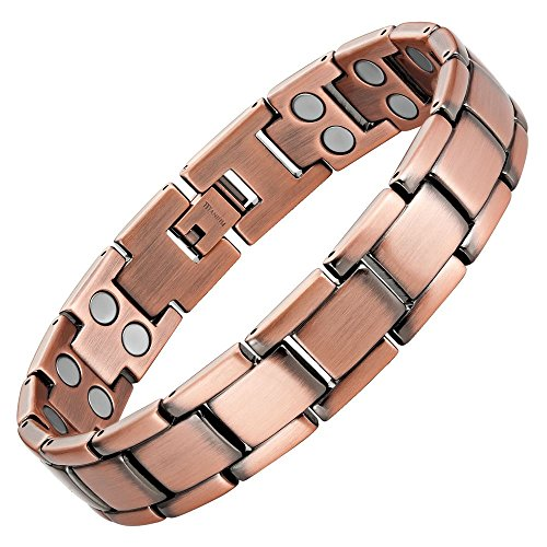 Willis Judd Double Strength Titanium Magnetic Therapy Bracelet for Arthritis Pain Relief