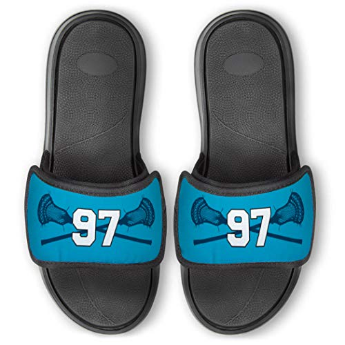 Repwell Lacrosse Slide Sandals   Your Number   Carolina   W7