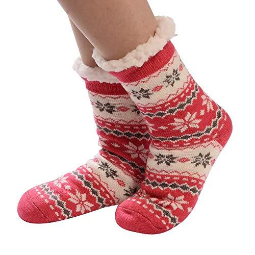 VJGOAL Mujeres invierno moda casual calcetines de algodón de impresión más gruesa...
