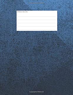 Booklets - Books - Notes: Music mcript paper, 5-line staves, with simple clean design. Cover blue. C91