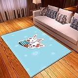 LGXINGLIyidian Casa Tappeto Modello di Arte del Fumetto Anime Classico Tappeto Morbido Antiscivolo per La Decorazione della Casa con Stampa 3D T-471K 180X200Cm