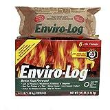 Enviro-Log Earth Friendly Fire Log, Burns Cleaner Than Wood. (1 Box - 3 lb Pack of 6)