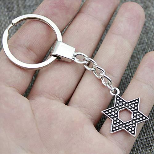 TAOZIAA Davidstern-Schlüsselanhänger Davidstern-Schlüsselanhänger mit Davidstern als Geschenk für Herren Dropship-Schmuck
