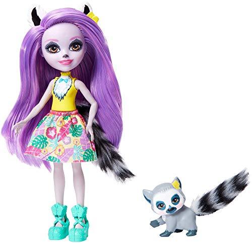 Enchantimals Muñeca Larissa Lemur con mascota Ringlet (Matt