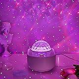 Star Projector,Galaxy Skylight Starlight Bedroom Bluetooth Led Nebula Ocean Wave Night Light Adult Space Lamp,Cloud Moon Globe Sensory Lights,Music Sky Lite Toddler Room Kids Remote Birthday Gifts
