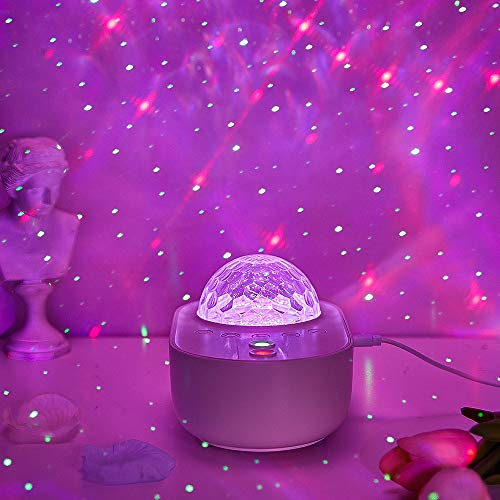 Galaxy Projector, Led Real Star Nebula Bedroom Night Light Ocean Wave Adult Lamp Cloud Moon Space Globe Sensory Lights, Bluetooth Starlight Sky Lite Toddler Room Kids Remote Valentines Day Gifts
